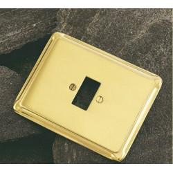 Placa de luz de 120 x 90mm. 1 agujero* . mod. 1273/1 .Latón
